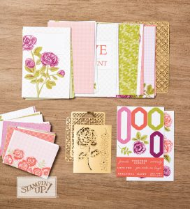 Petal Garden Memories and More Card Pack, Stampin Up, pocket memory keeping collection