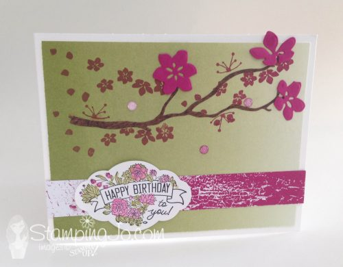Label Me Pretty, Stampin Up, birthday card