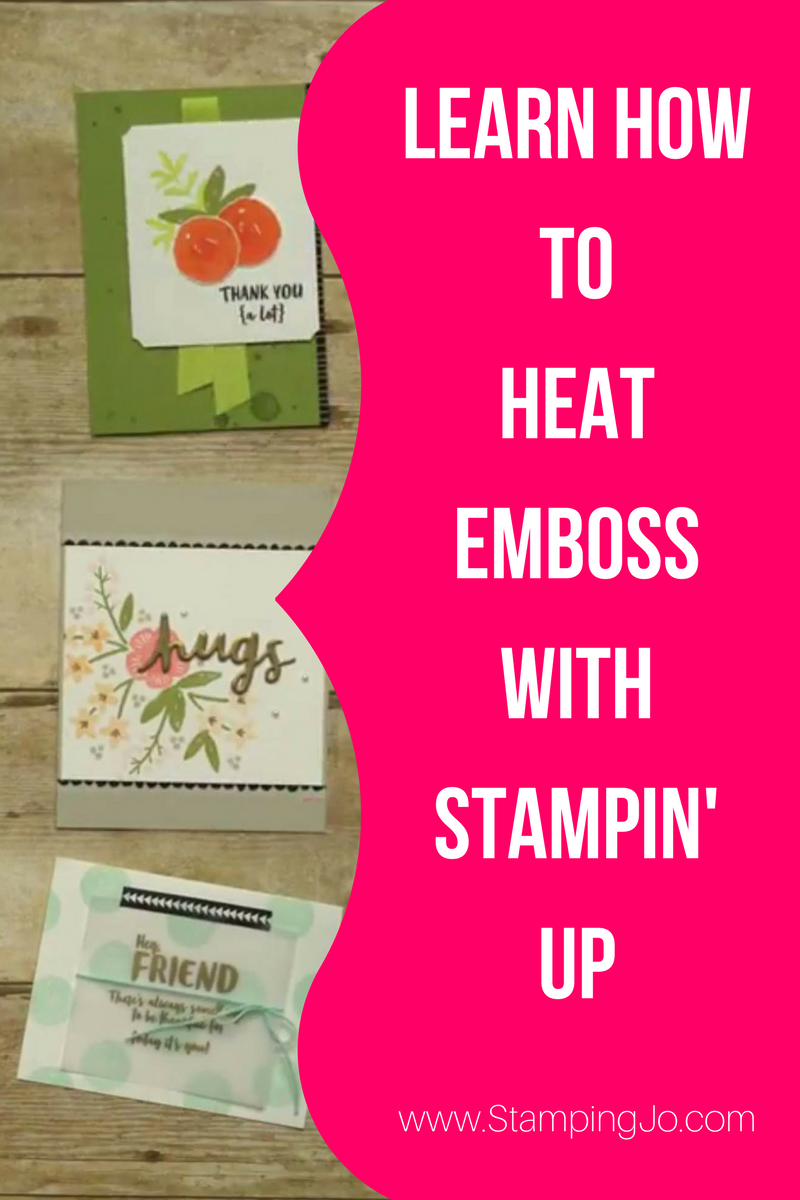 Learn how to heat emboss on your hand stamped cards using Stampin' Up papercrafting products!