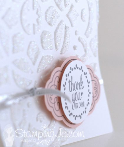 Label Me Pretty stamp set and Pretty Label Punch, card idea using Embossing Paste, Stampin Up