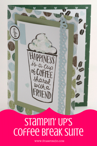 Friendship Card: Happiness Is A Cup of Coffee With a Friend