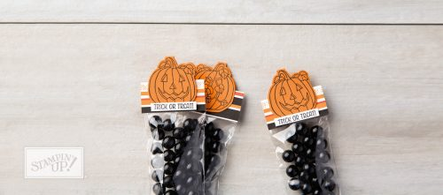 Seasonal Chums stamp set, Halloween treat toppers, Stampin Up
