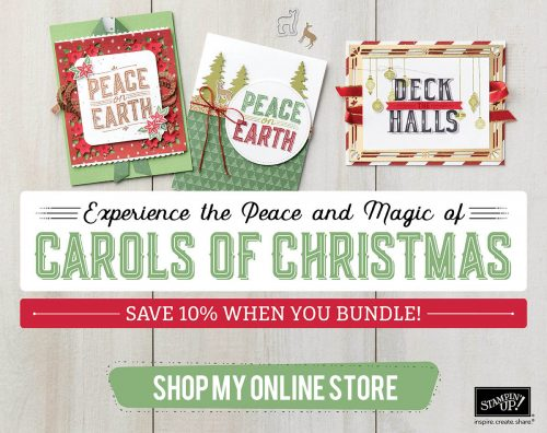 Carols of Christmas stamp set-perfect for making your own hand stamped Christmas cards, new from Stampin Up