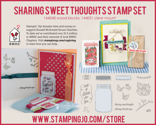 Sharing Sweet Thoughts set from Stampin Up- proceeds from the purchase of this stamp set benefit RMHC!