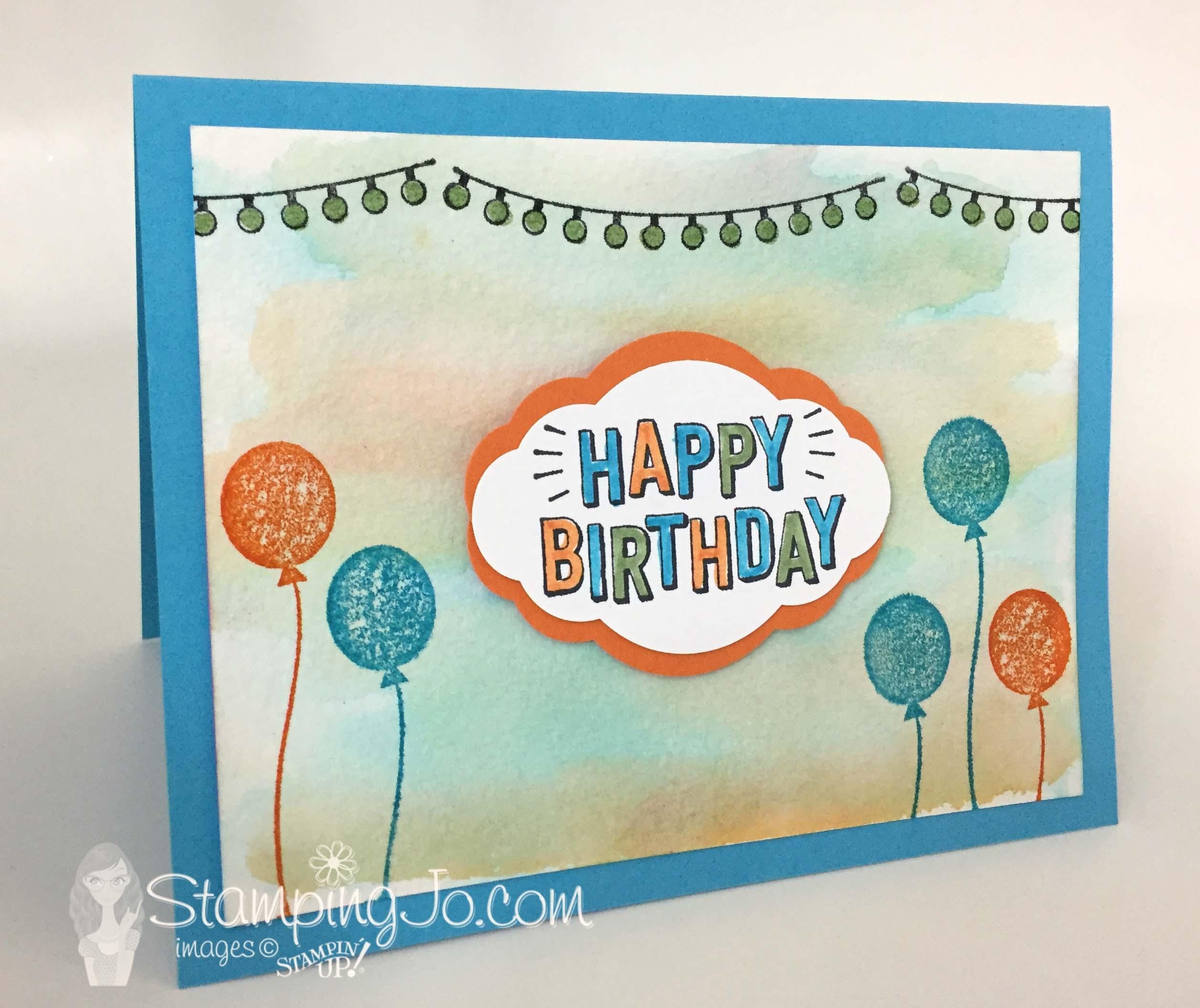 Confetti Celebration stamp set, Birthday card