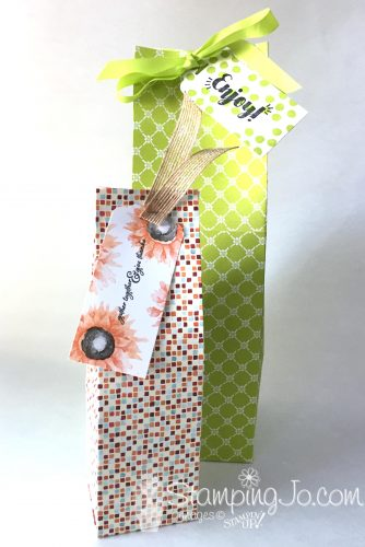 Handmade gift bags using Designer Series Papers from Stampin' Up