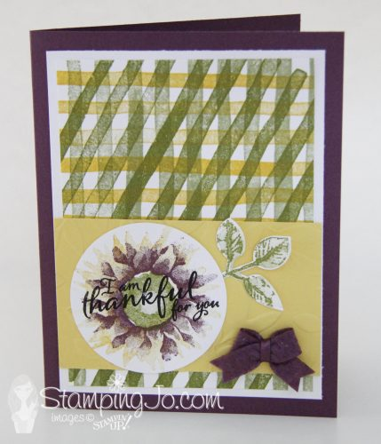Painted Harvest stamp set, Brushstroke Background stamp, thankful stamped card, Stampin Up