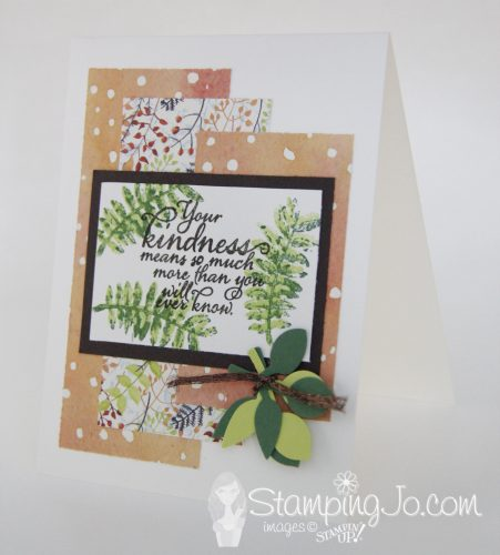 Painted Harvest stamp set, Painted Autumn Designer Series Paper, stamped card idea, Stampin Up, 2017 Holiday Catalogue