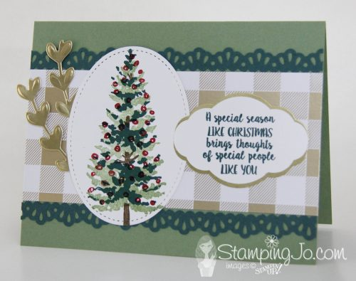 Season Like Christmas stamp set, Ribbon Border Punch