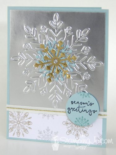 Cheers to the Year & Winter Wonder Embossed Snowflake