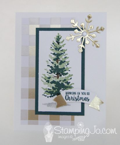 Season Like Christmas stamp set, Stampin Up, handmade Christmas card idea, Designer Series paper