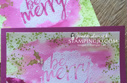 watercoloring and emboss resist stampin up card 1