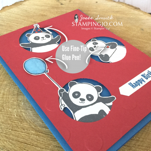 Party Pandas Peek-A-Boo card