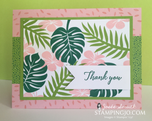 VIDEO | Stamping 411 with Josee: Tropical Chic Week 1