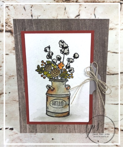 Country Home watercolouring