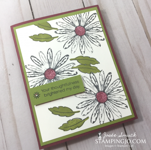 VIDEO | STAMPING 411 WITH JOSEE: DAISY DELIGHT WEEK 1