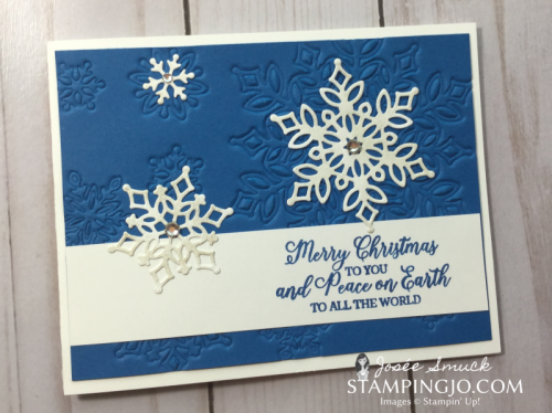 VIDEO | STAMPING 411 WITH JOSEE: SNOW IS GLISTENING WEEK 4