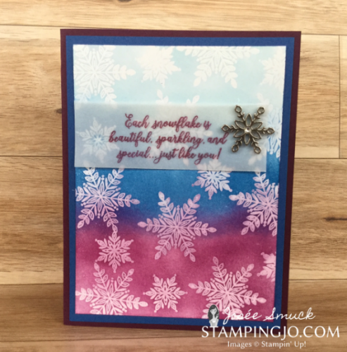 VIDEO | STAMPING 411 WITH JOSEE: SNOW IS GLISTENING WEEK 1