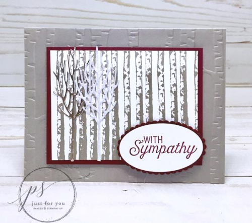 Winter Woods Sympathy Card