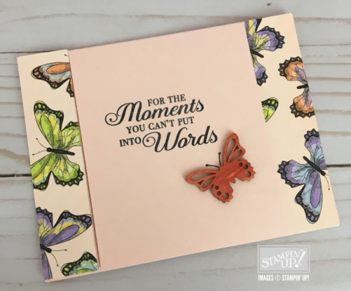 Butterfly Elements flap card