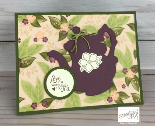 Tea Time with Floral Romance paper