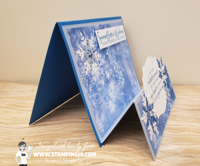 Snowflake Wishes Double Easel Card stampin up fun fold