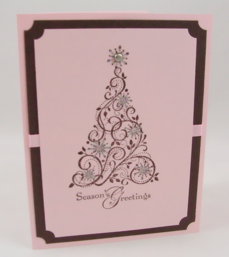 Stampin Up Christmas Card Idea 4 Snow Swirled